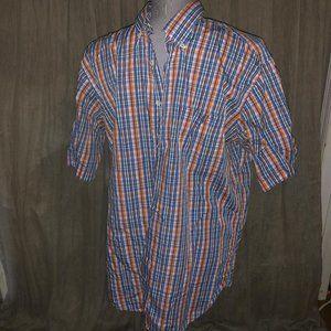 Peter Millar great mini plaid short sleeved shirtL